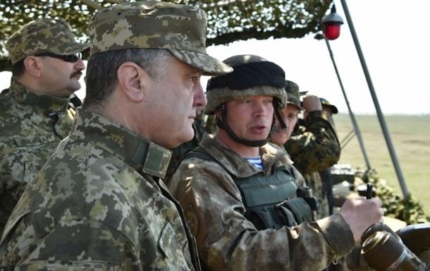 Порошенко: Украинская армия в наступление первой не пойдет