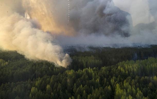 В Чернобыльской зоне продолжают тушить пожар