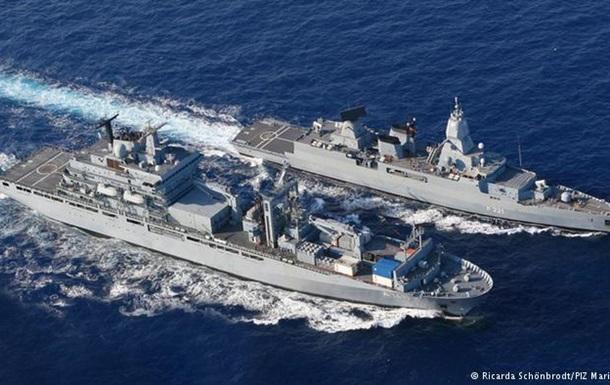 Немецкие военные корабли будут спасать беженцев в Средиземном море