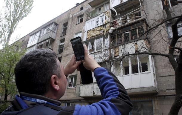Эксперты ОБСЕ прибыли на место обстрела в Донецке