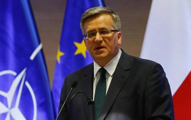 Коморовский предложил провести в Польше референдум