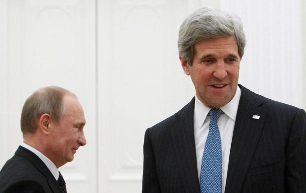 Керри хочет поговорить с Путиным об Украине, в Кремле пока не решили