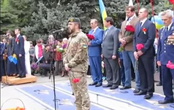 Украинского военного освистали в Мелитополе за речь об оккупантах