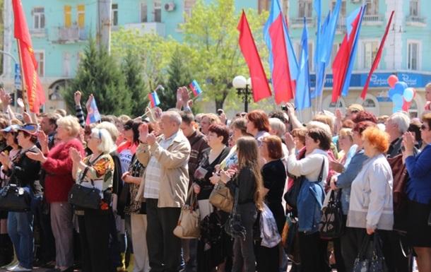 В Луганске отмечают годовщину  республики