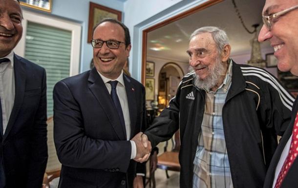 Франсуа Олланд встретился в Гаване с братьями Кастро