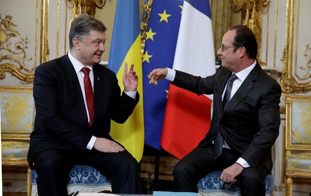 Порошенко и Олланд обсудили отправку миротворцев на Донбасс