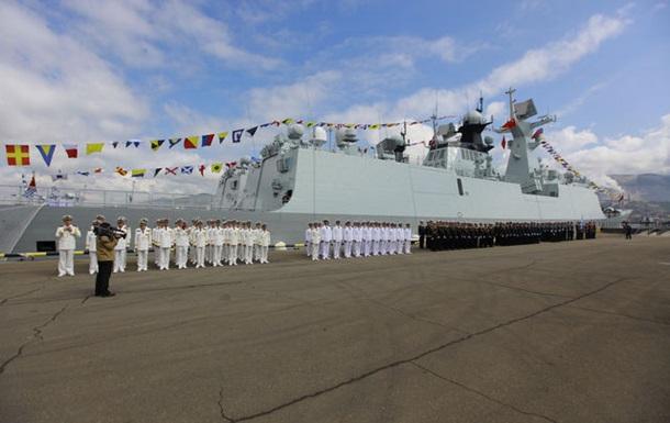 Россия и КНР начали совместные маневры в Средиземноморье