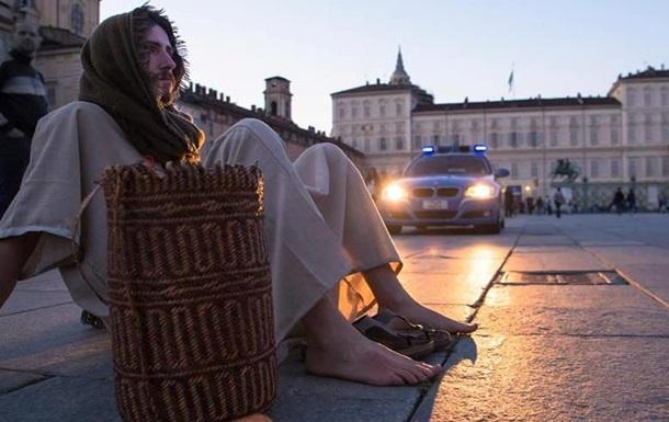 В Италии задержан мужчина в образе Иисуса