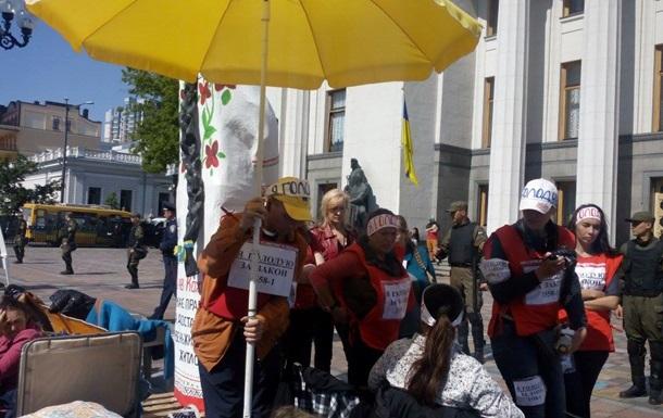 Под Радой два человека объявили сухую голодовку