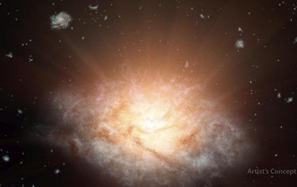 NASA показало самую яркую галактику во Вселенной