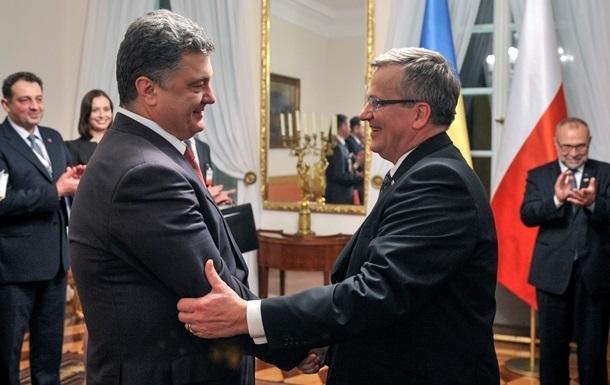 Порошенко встретится в Варшаве с Дудой и Коморовским – СМИ