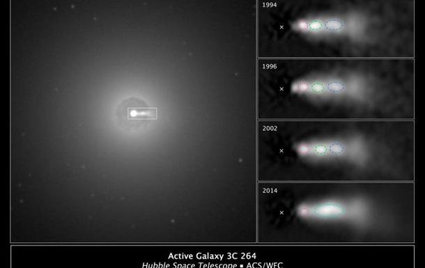 Астрофизики показали столкновения выбросов из черной дыры