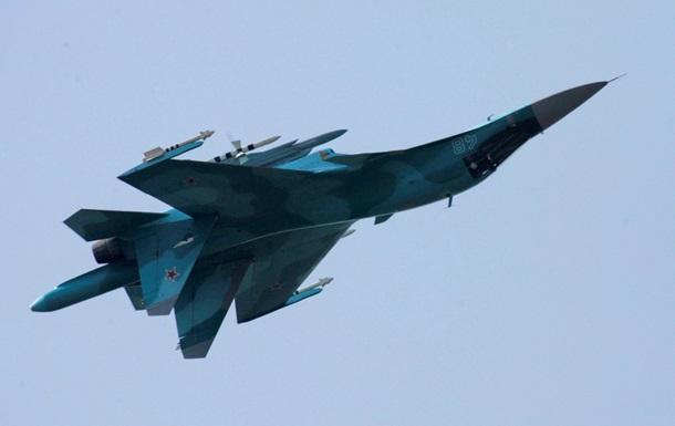 В России новейший бомбардировщик Су-34 опрокинулся при посадке