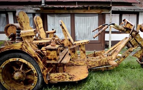 Байк своими руками: венгерский фермер создает уникальные машины из дерева