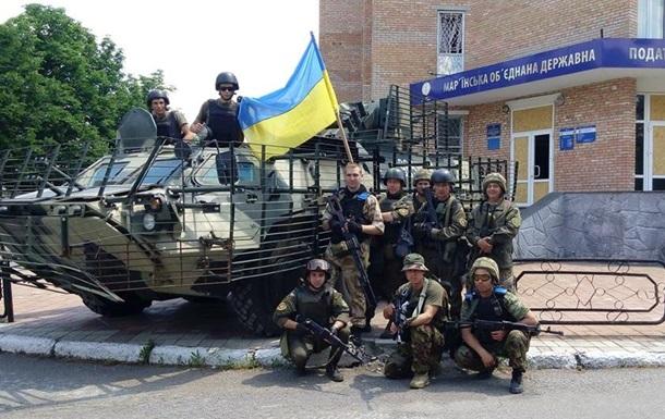 Военные контролируют Марьинку: фоторепортаж