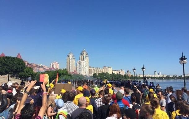 Появилось видео с марша равенства в Киеве