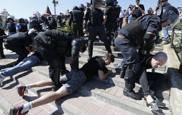 Гей-парад в Киеве: 30 задержанных и 9 пострадавших милиционеров