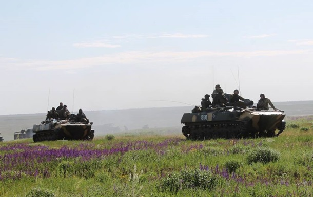 На Луганском направлении бои по всей линии фронта. Карта АТО за 9 июня