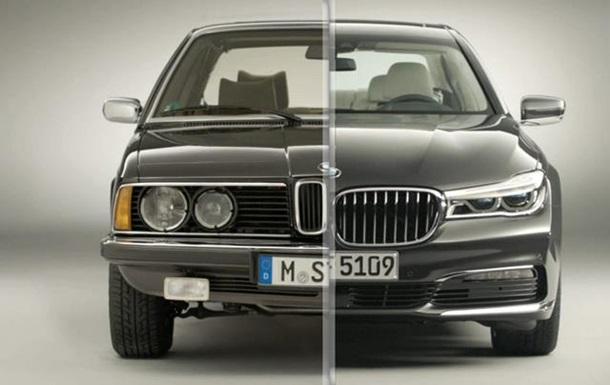 Видео демонстрирует эволюцию седана BMW 7-Series за последние 38 лет