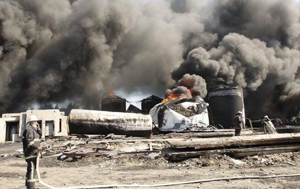 Турчинов рассказал о жертвах пожара на нефтебазе под Киевом