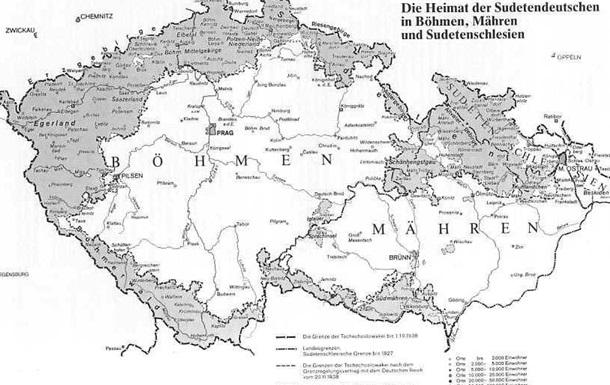 Депортація німців з території Чехословаччини: етап перший