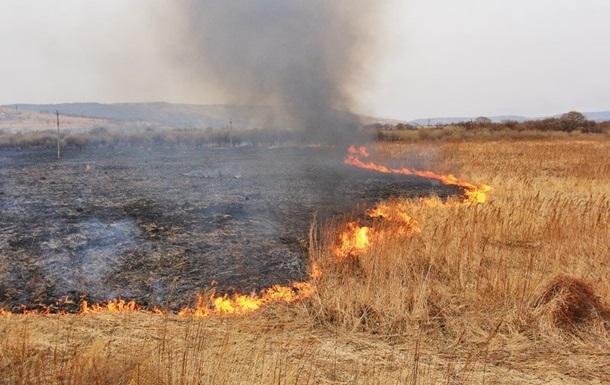 На Луганщине из-за обстрелов горят сто гектаров земли