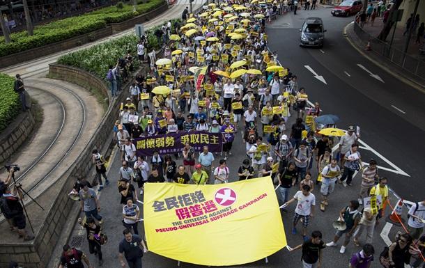 Желтые зонтики протеста вернулись в Гонконг