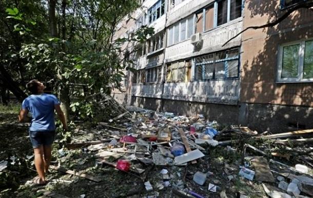 Донецк ночью подвергся массированному обстрелу