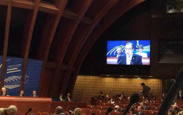Генсек ООН не упомянул причастность России к конфликтам в Украине