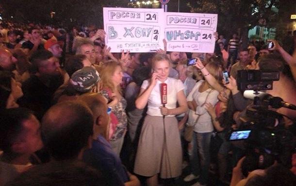 Российским журналистам досталось от протестующих в Ереване