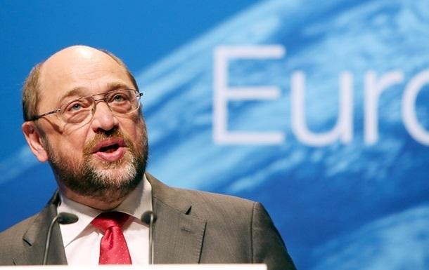 Президент Европарламента Шульц выступит в Верховной Раде в пятницу