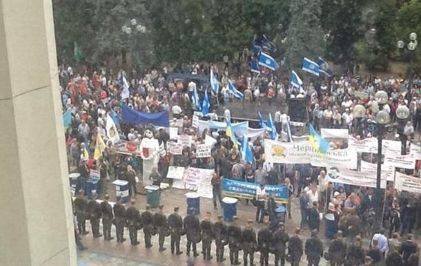 Под зданием Рады проходят сразу два митинга