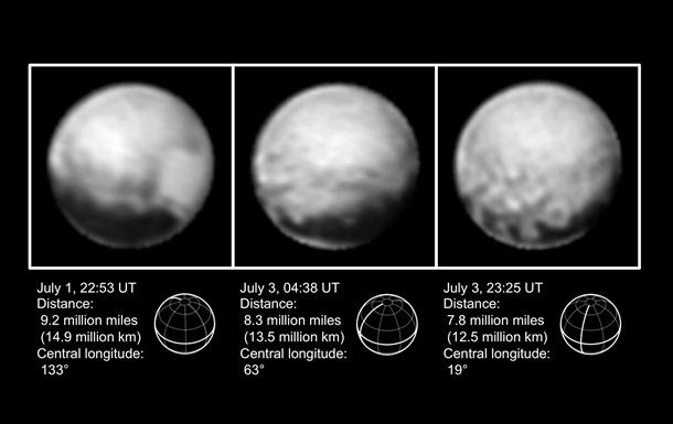 New Horizons передал новые качественные фотографии Плутона