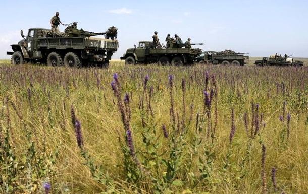 Донбасс обстреливают из танков и пушек. Карта АТО за 13 июля