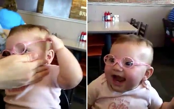 Ребенок с плохим зрением впервые увидел родителей четко: видеохит
