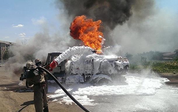 Пожар на заправке в Николаевской области: сгорели три бензовоза