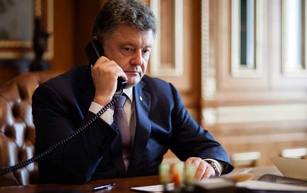 Порошенко провел телефонный разговор в  нормандском формате