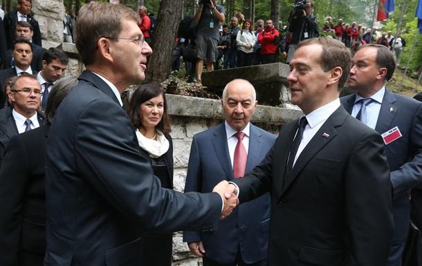 Медведев впервые прибыл в ЕС после аннексии Крыма