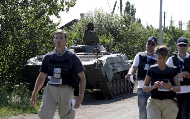 ОБСЕ зафиксировало ответный огонь военных возле Счастья