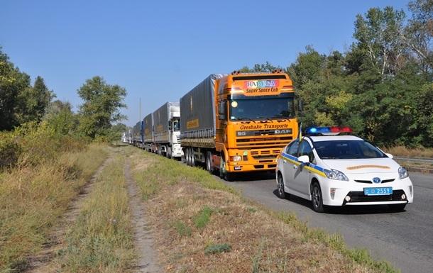 Колонна гумпощи Штаба Ахметова смогла добраться до Донецка