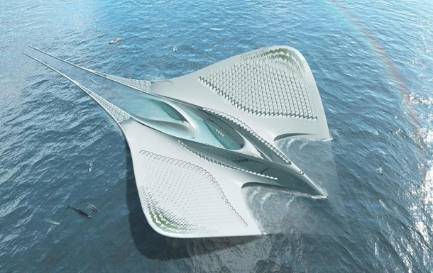 Во Франции спроектирован плавучий город в форме огромного морского дьявола