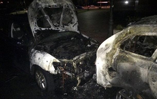 В Киеве сгорело несколько автомобилей