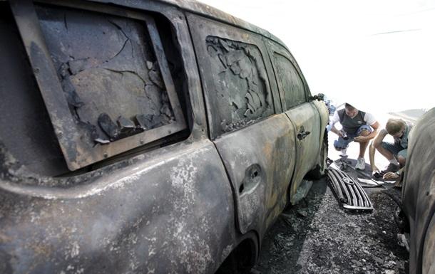 Турчинов: поджог машин ОБСЕ - попытка сорвать мирный процесс