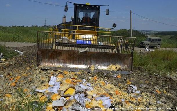 В Германии критикуют уничтожение продуктов питания в России
