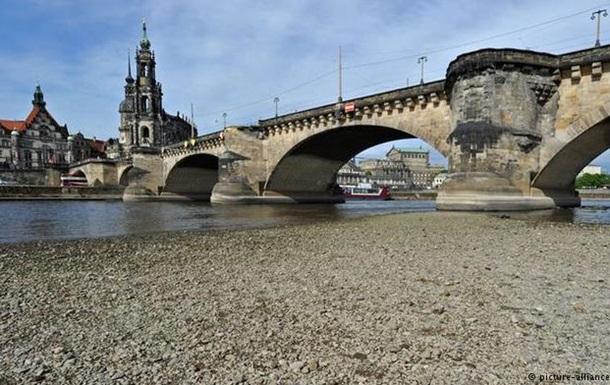 В Германии аномальная жара осушила крупные реки