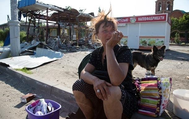 Станица Луганская из-за обстрелов без воды и света