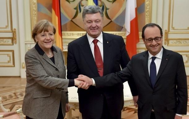 Порошенко отправился в Берлин на встречу с Меркель и Олландом