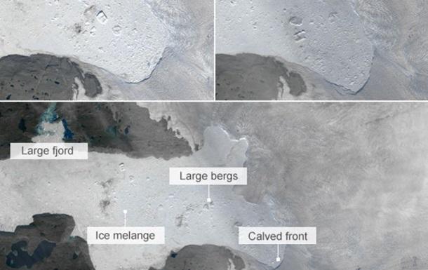 В поисках  Титаника . От Гренландии откололся гигантсткий айсберг