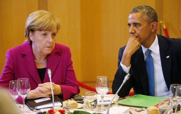 Обама обсудил с Меркель ситуацию на Донбассе