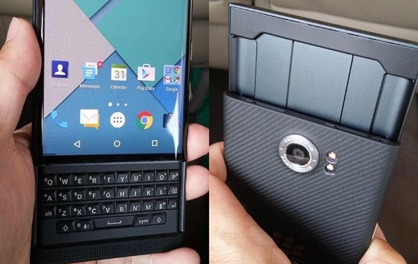Опубликованы фото первого Android-смартфона BlackBerry